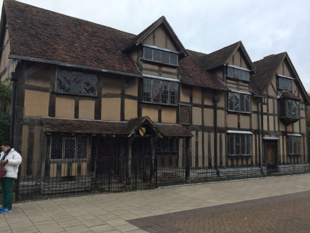 The Shakespeare house from the street.
