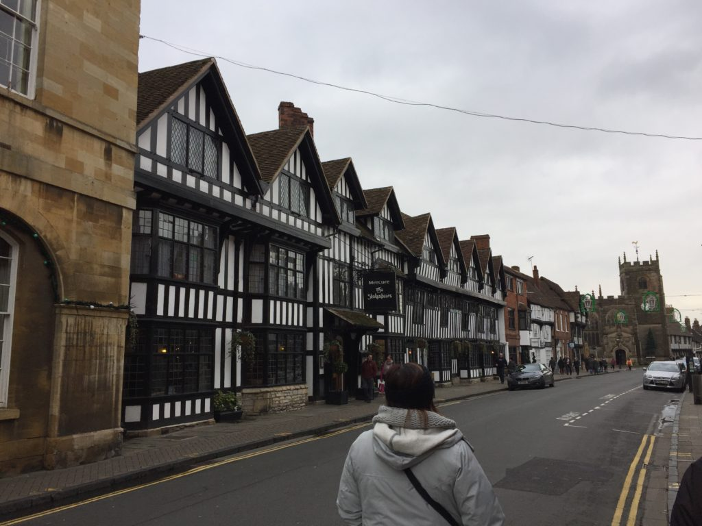 Another example of new and original Tudor style buildings side by side in Stratford-upon-Avon