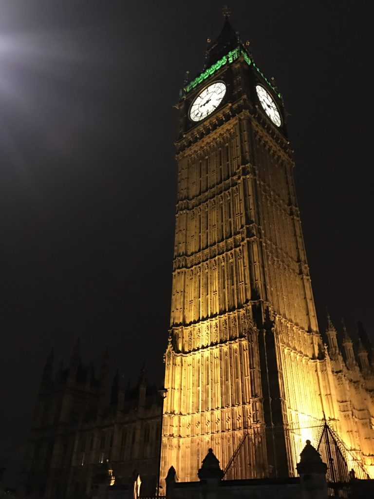 Big Ben and London by night.