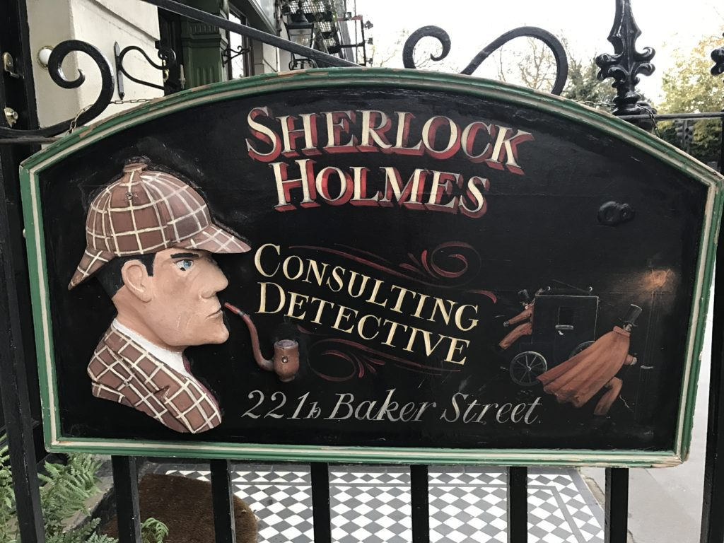 At Sherlock Holmes 221b Baker St.<br /> Fans visited this fictional address for decades, until the Holmes society finally acquired this space and numbered 221b. They've really brought his home to life!