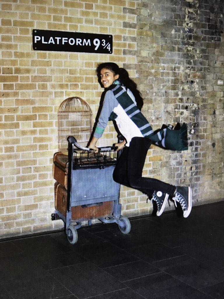 Ms Slytherin heading to Hogwarts.