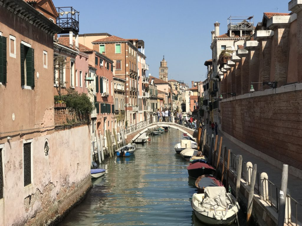 In Venice, houses and business transport people and goods via canals.
