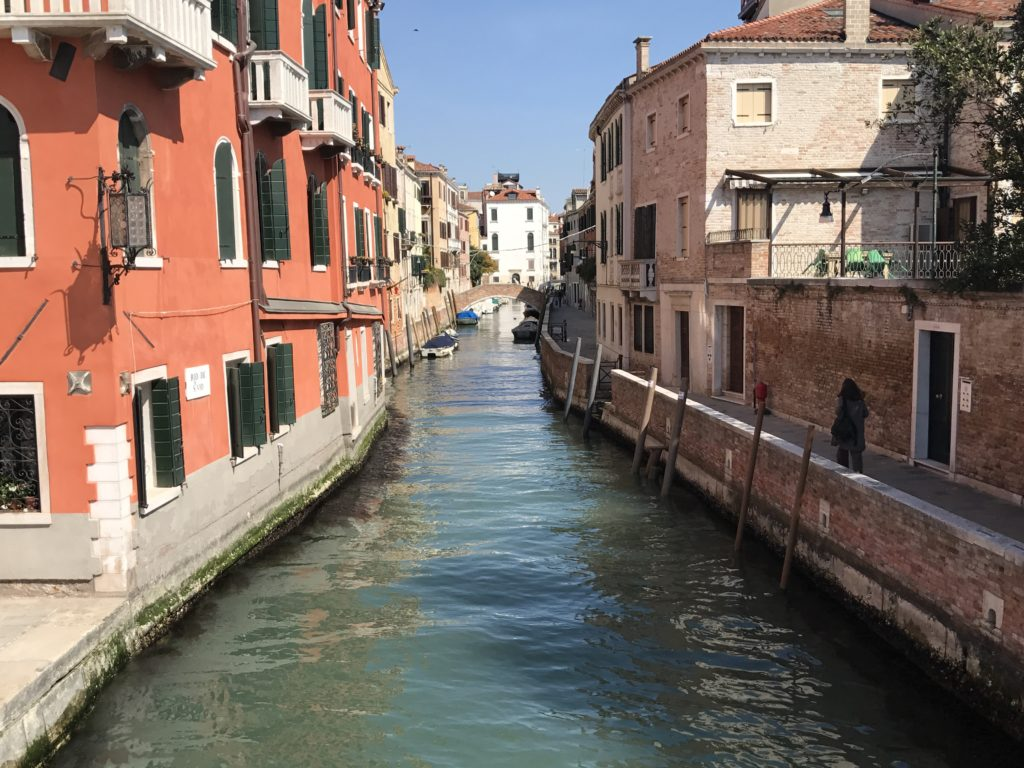 The ~100 islands of Venice are separated narrow canals