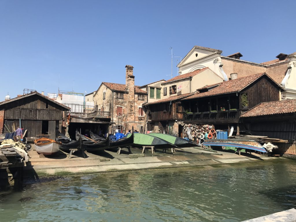 Squero di San Trovaso, one of the three remaining boatyards in Venice that supply some of the most ornate and most photographed boats in the world.