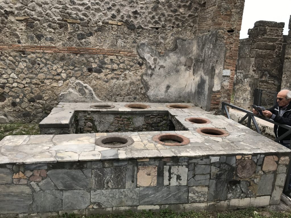 A typical restaurant in Pompeii (Caupona)