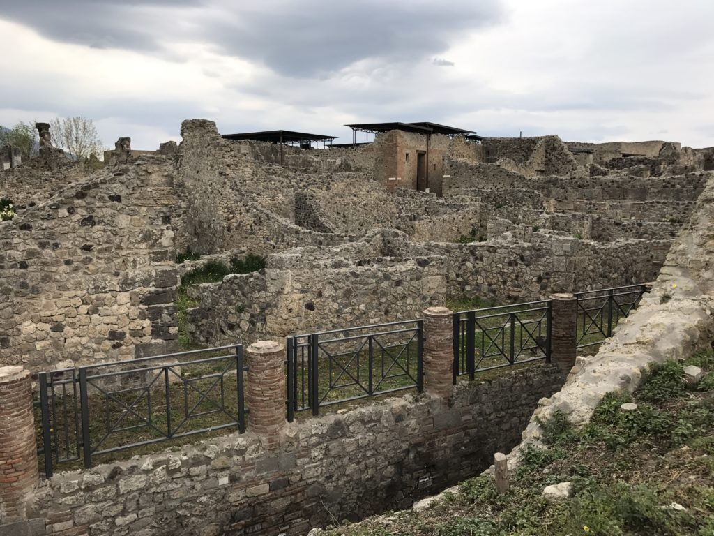 Within the city, it seems like the Pompeiians built something on every inch. We didn't talk about any parks or play structures or schools. It looks like it would have been a concrete jungle with a lot of busy people (from the little we saw).