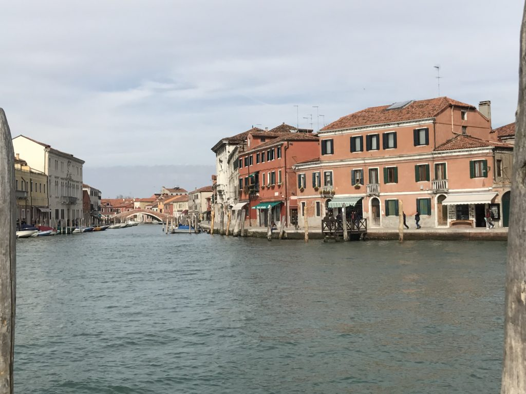 Like Venice, Murano is a collection of man made islands connected by bridges and boats. It's larger of the other surrounding islands.