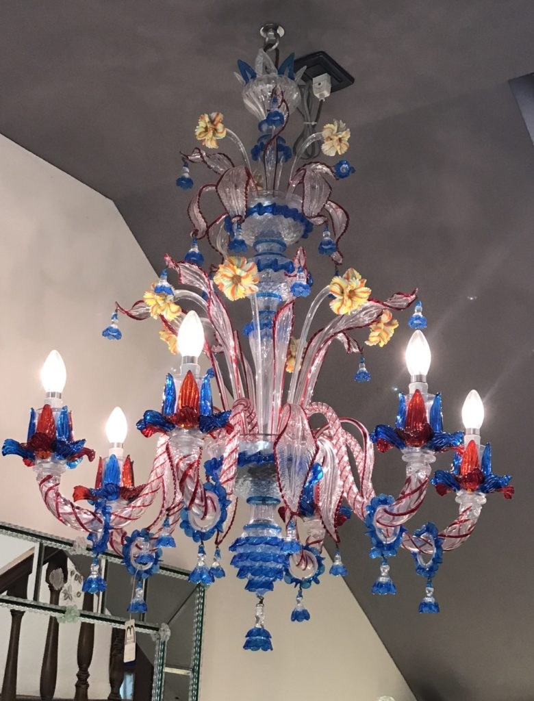 Beautiful works of glass art in Murano's stores as well as small pieces.