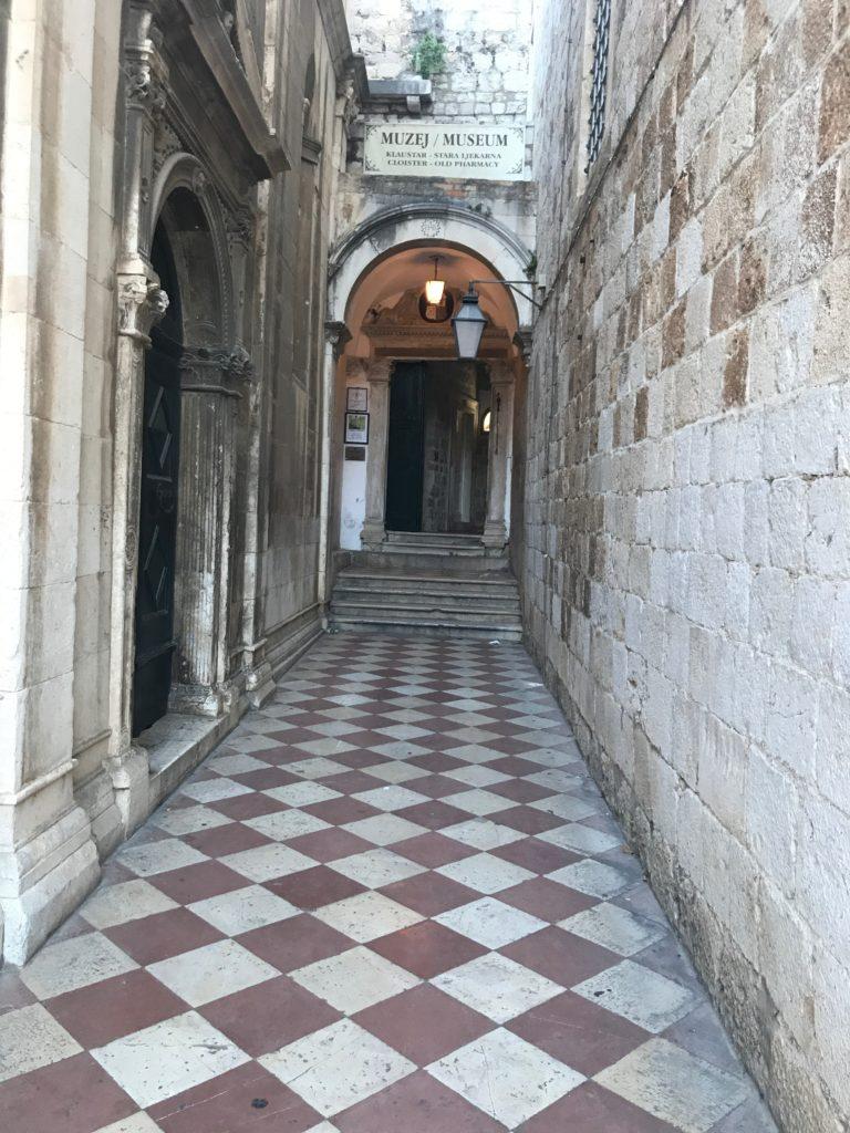 Dubrovnik's 14th century pharmacy entrance