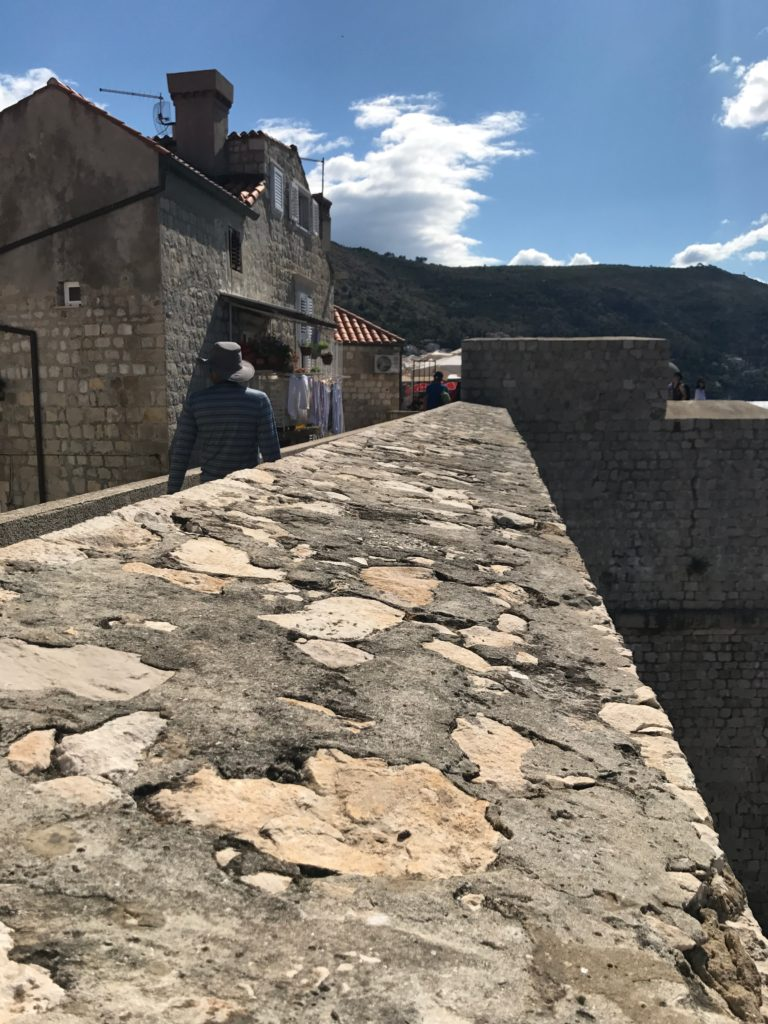 The Dubrovnik wall is over a meter think. No wonder enemies couldn't get through.