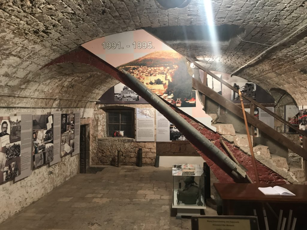 Napoleon's fortress is converted into a museum to honor the people that saved the city in the 1991-92 siege from Serbia.
