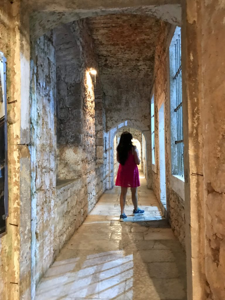 The fortress is filled with rows of exhibition rooms with stories from the 1990s siege of Dubrovnik