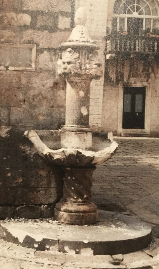 Even the little water fountain under our apartment where nuns lived, was bombed.