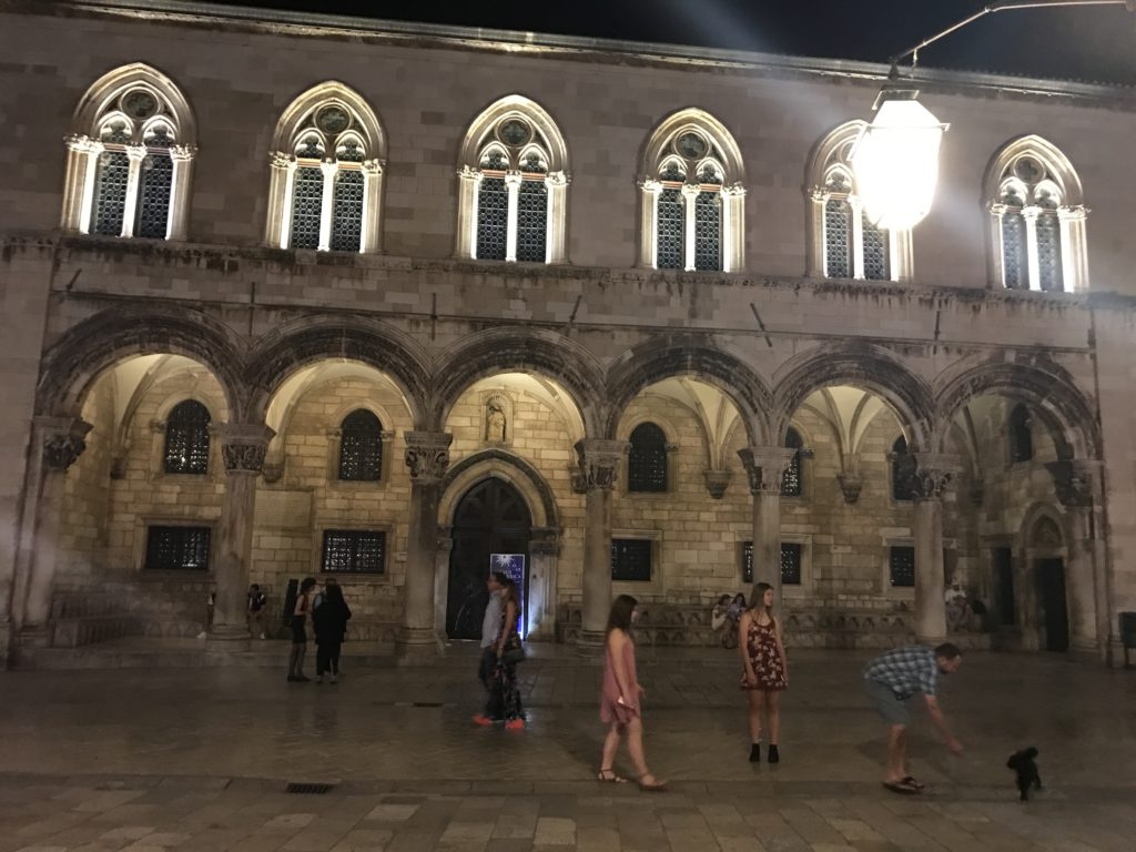 The Rector palace was government building and home of the Rector for his one month term as head of Dubrovnik government.