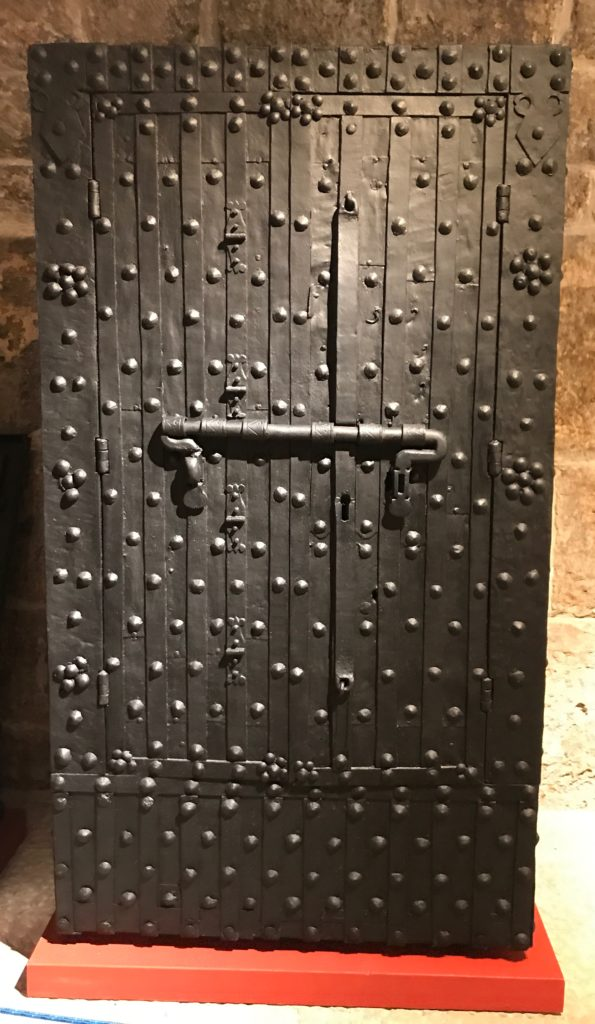 A full length iron safe is on display in the Rector palace along with a few beautiful portable chests.
