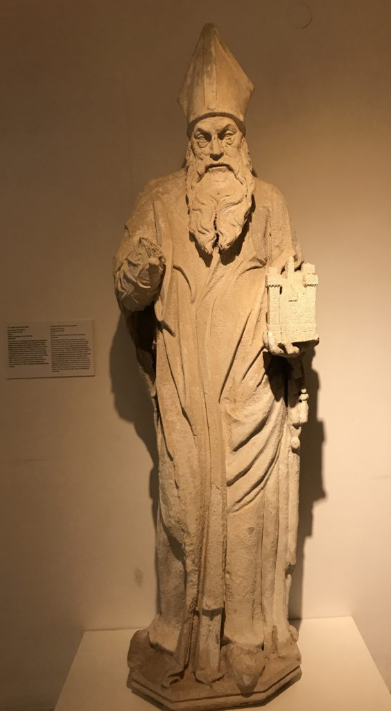 A full length statute of Saint Blaise is on display in the Rector palace. He is regarded as the protector Saint of Dubrovnik and always shown with a model of Dubrovnik old town in one hand.