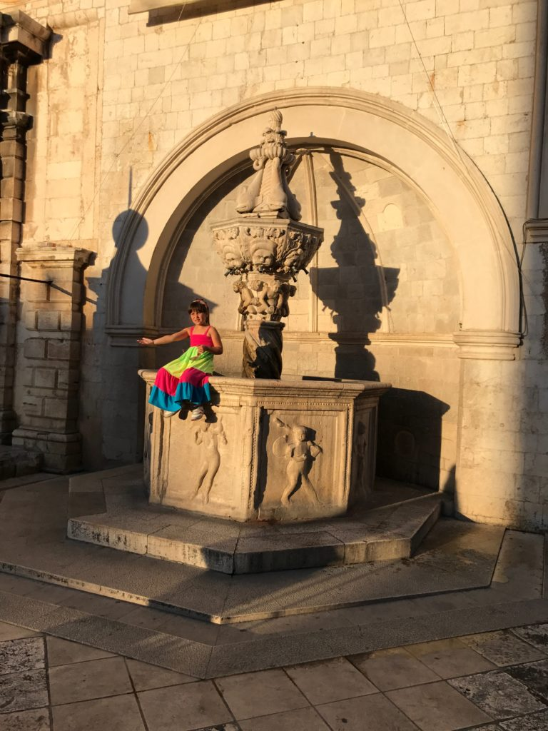 The small fountain in Dubrovnik is a good spot for pictures and a delicious drink of water. But, you'll need a water bottle with a large opening.