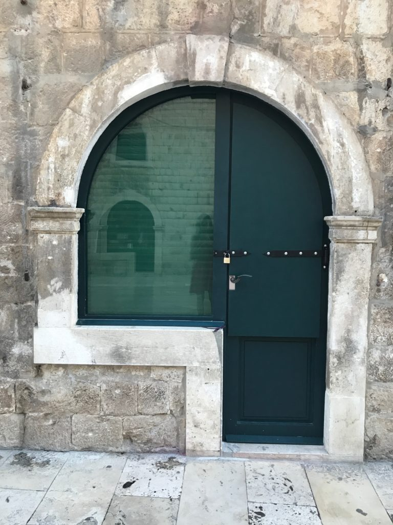 Very unusual but typical doors on Dubrovnik stores.
