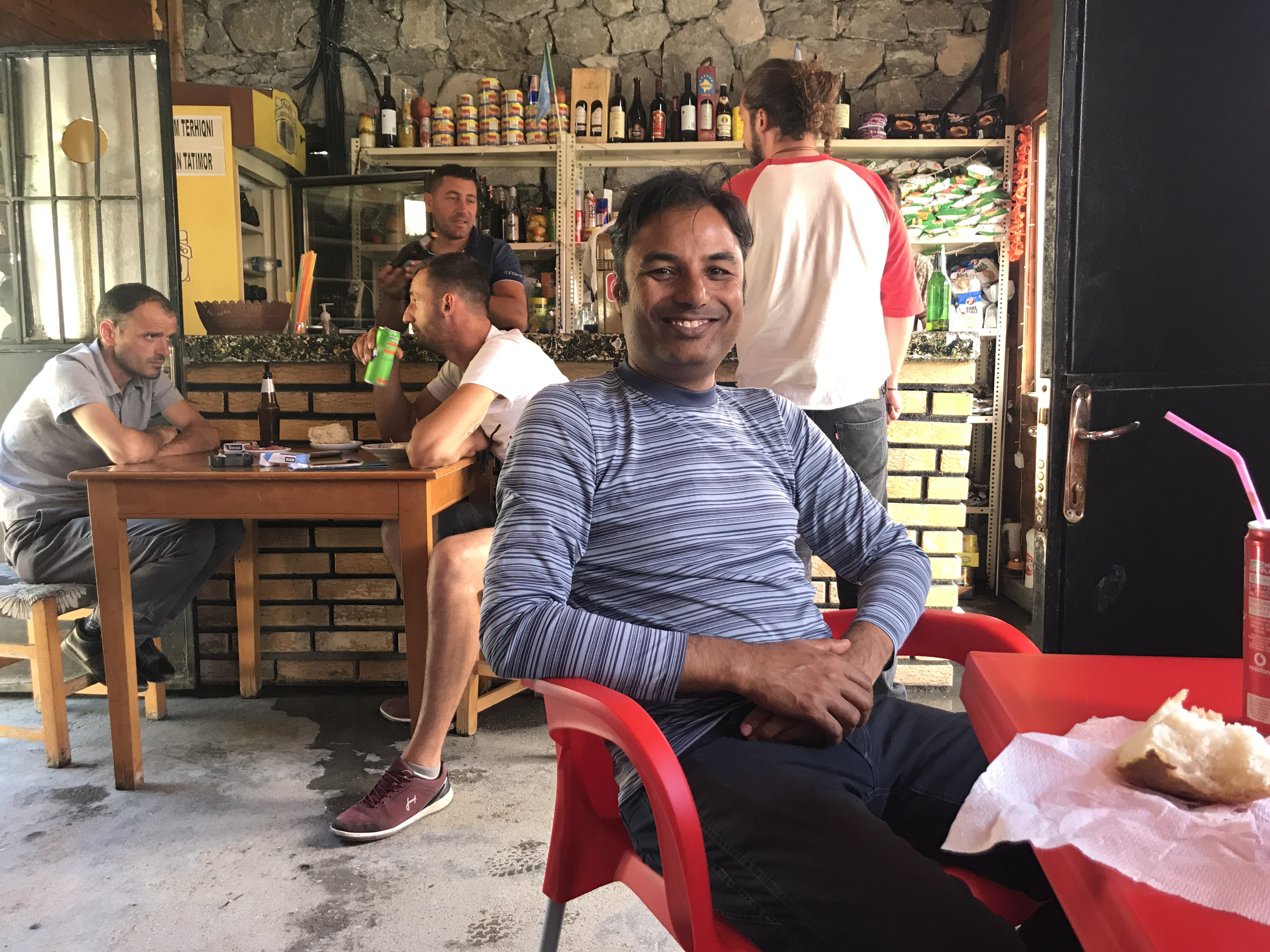 We decide to spend the rest of the time in the little rustic cafe. The crew and other passengers get their lunch of bread, cheese, sausage and soda. The boys were super friendly and we tried to converse with the one that knew some English. Most of them live around the lake and captain lives in Shkoder.