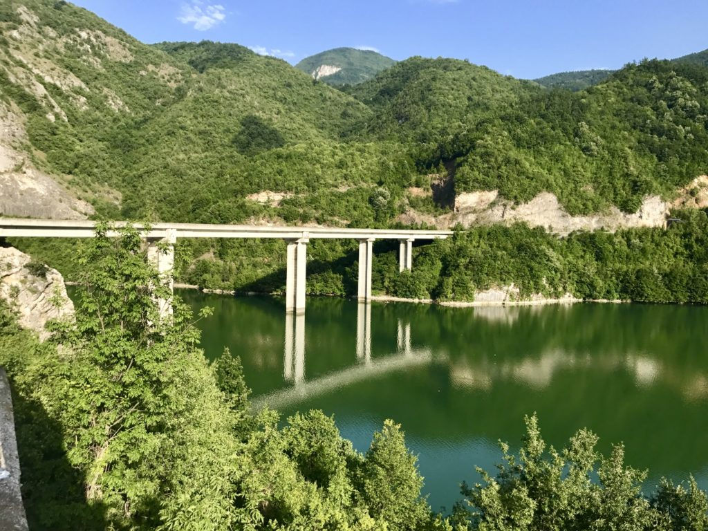 Driving from Serbia to Sarajevo was a treat. Once we reached Bosnia & Herzegovina, the scenery was out of this world. There was an occasional car but also plenty of spots to take a break and soak in the sights and breathe fresh crisp air.