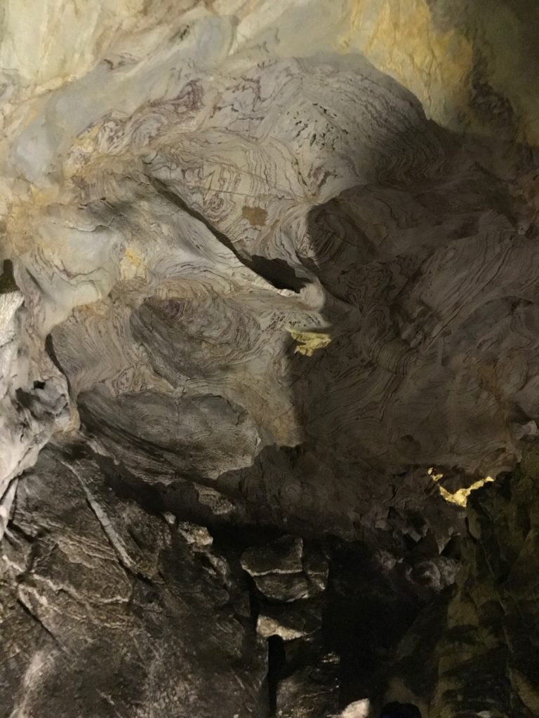 The central part of Radachi caves has many bats and bat guano.
