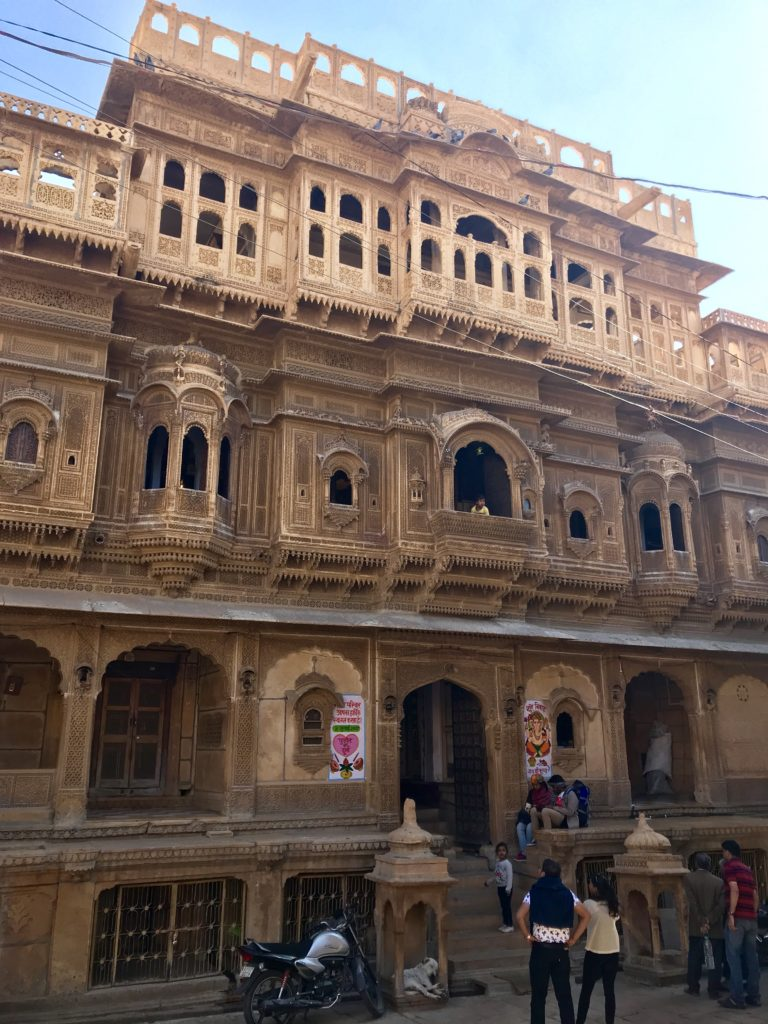 Nathmalji haveli rivals the Patwa haveli. Some say they were contemporary business men, each trying to out-do the other in their building projects.