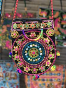 Purses and hand made many souvenirs in the hundreds of stall all over Jaisalmer town and fort.