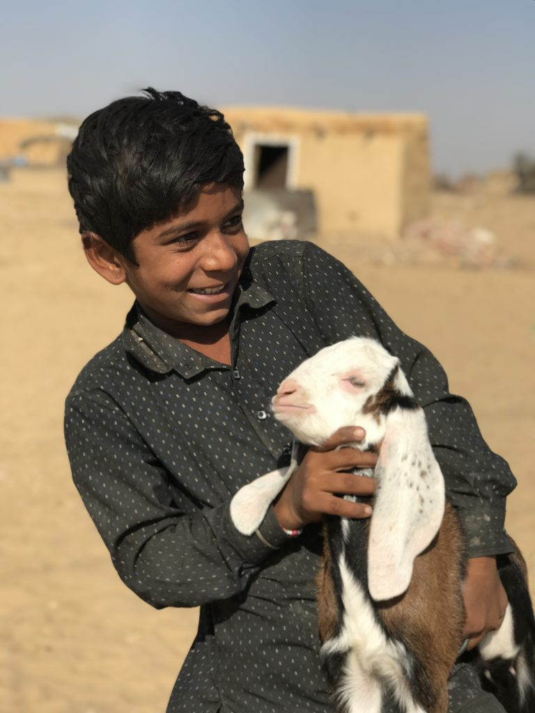 One of the wonderful children of Gumnewala shows off the newest cute baby kid.