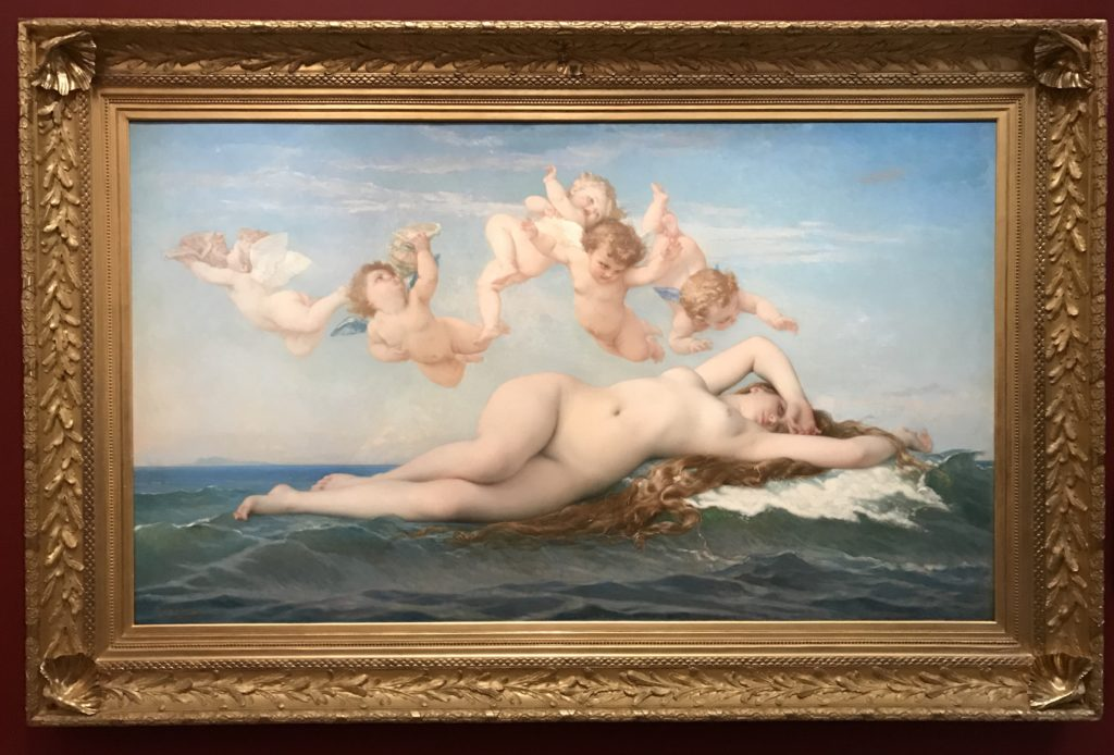 Birth of Venus, rising from the ocean. by Alexandre Cabanel. Painted in 1863.