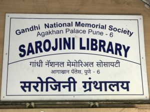 Library dedicated to Sarojini Naidu in the Agakhan palace.