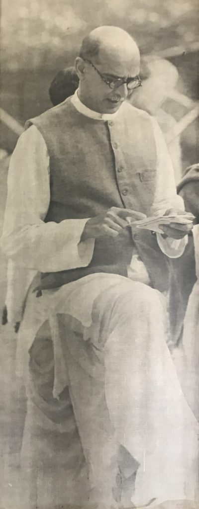 Mahadev Desai, secretary and like a son to Gandhiji