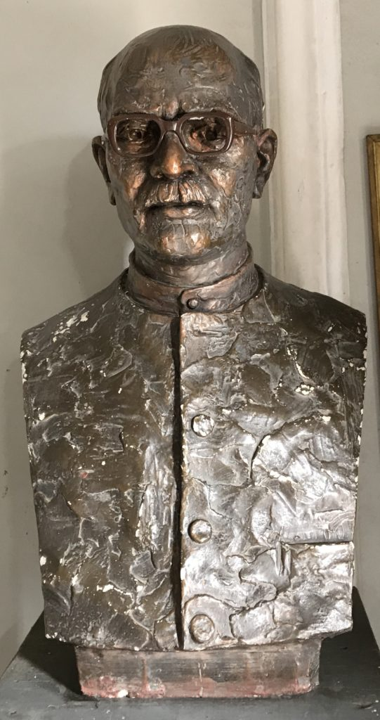 Mahadev Desai's bust statue in Agakhan Palace Foundation