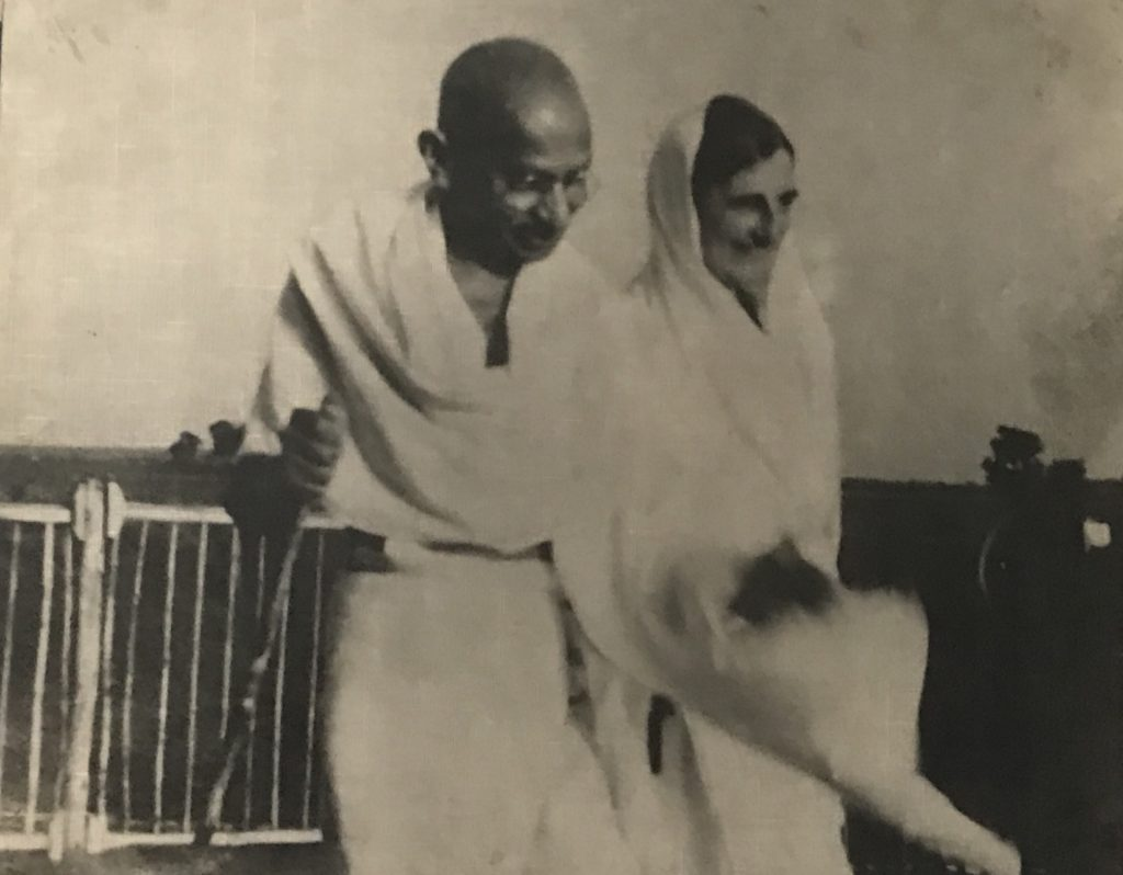 Mahatma Gandhi and Mira ben. She was like a shadow of him.