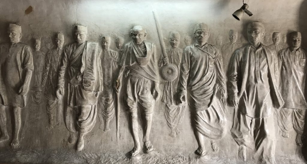 Gandhiji led many iconic marches for the rights of the Indian people. One such march was to Dandi to get rights to make our own salt.