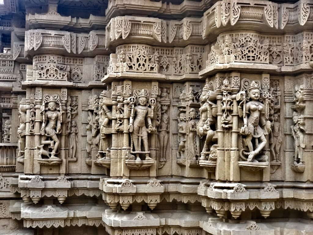 Every tiny space in the temples is covered with ornate carvings.