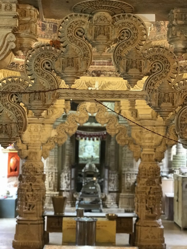 Its unreal how intricate the carvings are in all the Jain temples of Jaisalmer. They are still intact and resemble the carvings in the Jain homes.