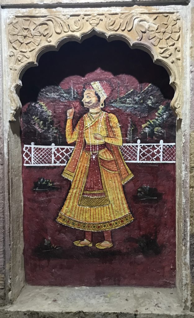 The haveli has many beautiful paintings amongst the general deterioration.