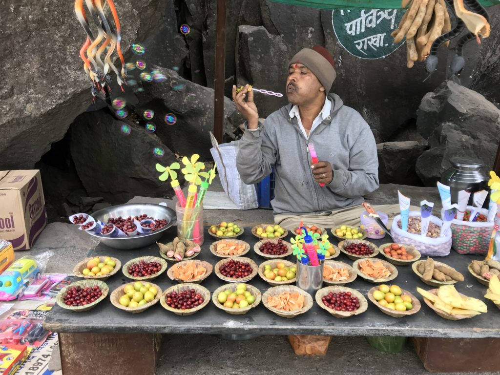 Leading up to the Pune Gate are many villagers selling seasonal fruit like gooseberries, raw mangoes, tamarind, and other berries.
