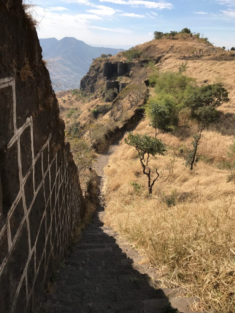 Also there are some paths with steep steps along the fort walls.