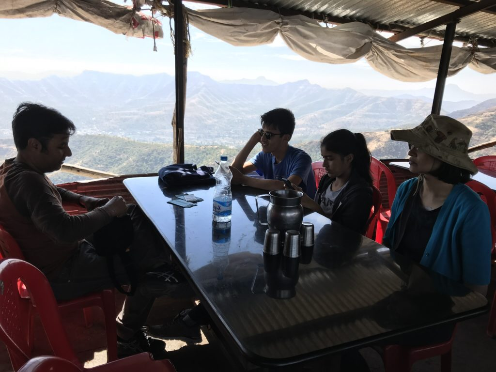 We ate in a rustic dhaba overlooking the mountains and valleys all around.