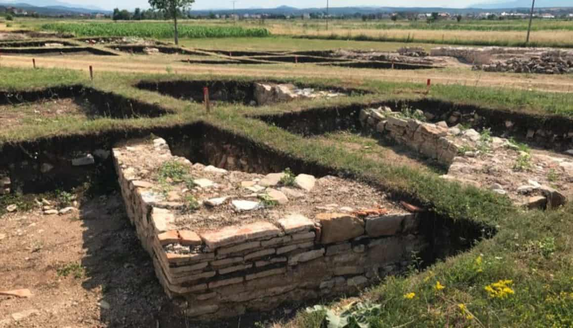 Roman Settlement in Kosovo, an active excavation site near Peja/Pec.