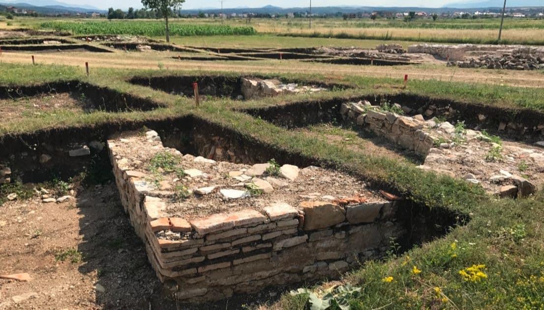 Roman Settlement in Kosovo, an active excavation site near Peja/Pec.