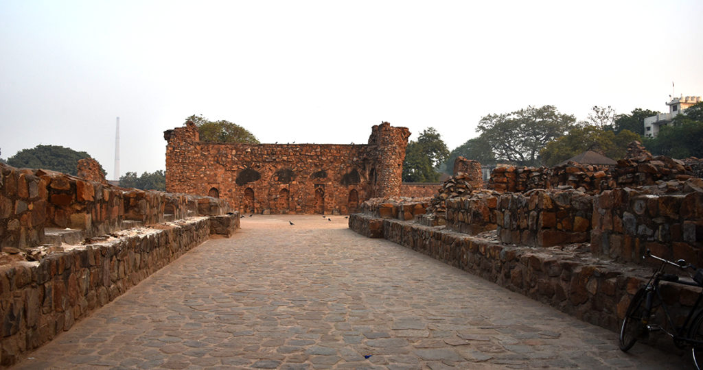 Feroz Shah Kotla fort in Delhi.