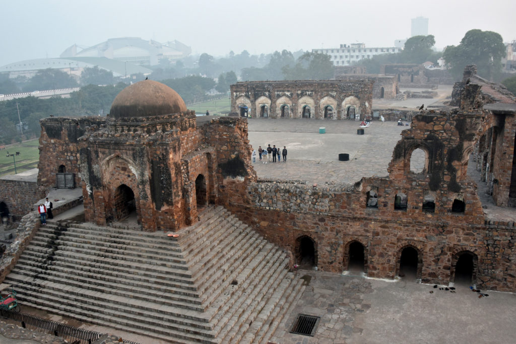 Remains of Jami Maszid in Feroz Shah Kotla, Delhi. This is one of the oldest mosques still in active use.