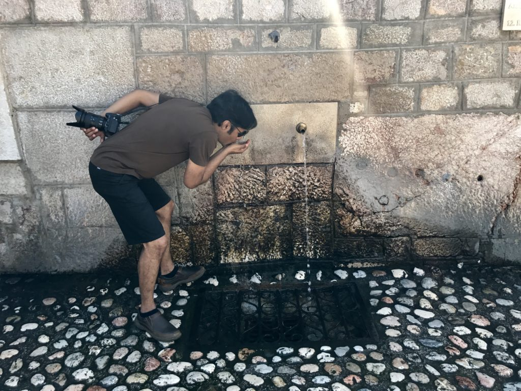 Old water fountains still remain in Sarajevo but one had to stand in line and risk life to get water during the Sarajevo Siege. They are perfect to quench your thirst on free walking tours.