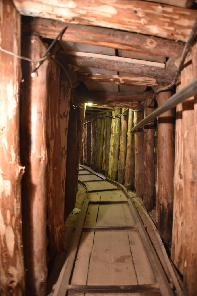 While much of the Tunnel is not collapsed, 25m is restored to its original stated and maintained for visitors.