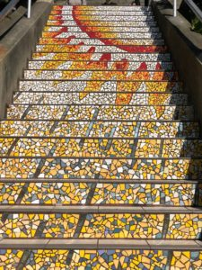 The Sun at the top of 16th Avenue Tiled Steps