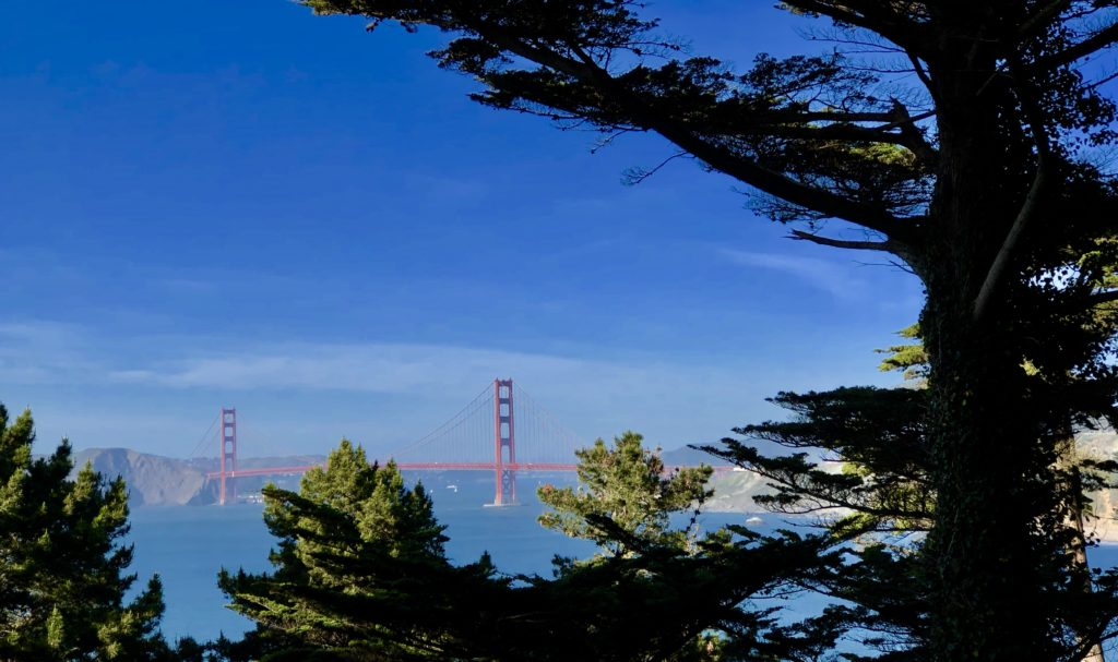 San Francisco's Golden Gate Bridge from Land's End