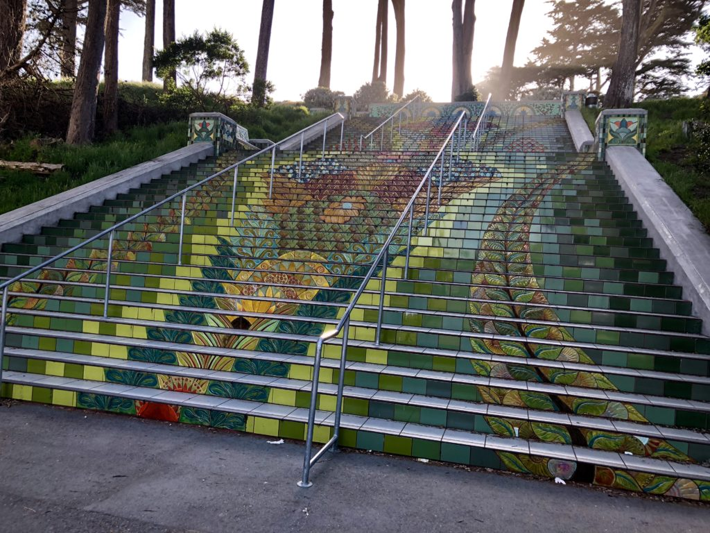 Gorgeous steps leading up to Lincoln Park and golf course in San Francisco