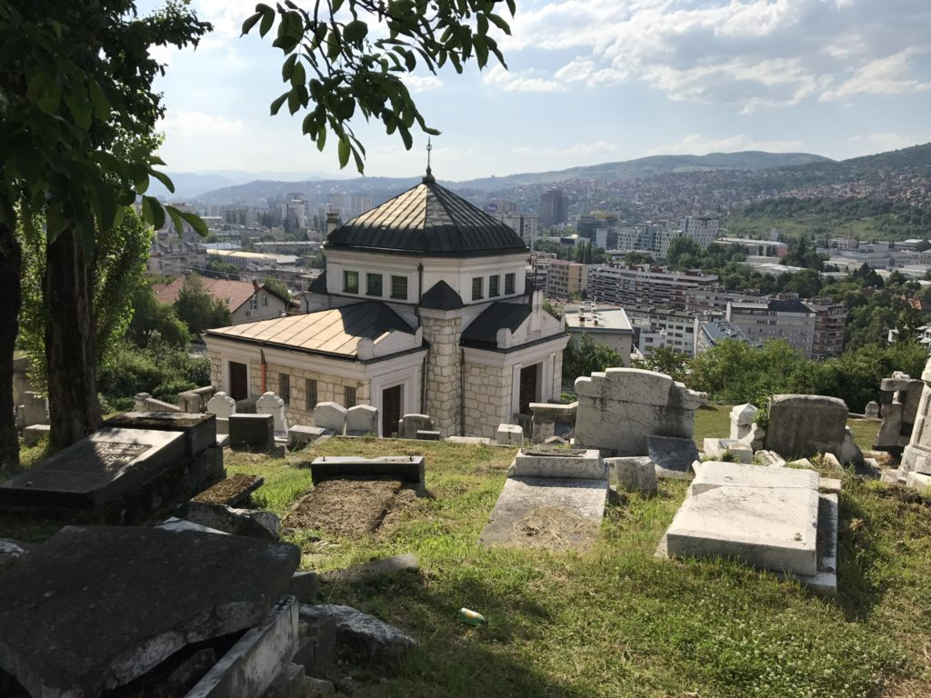 The Jewish cemetery up in the hills of Sarajevo became a refuge for the snipers to shoot at Sarajevo's people.